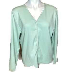 Lizwear by Liz Claiborne Mint Green Cardigan XL
